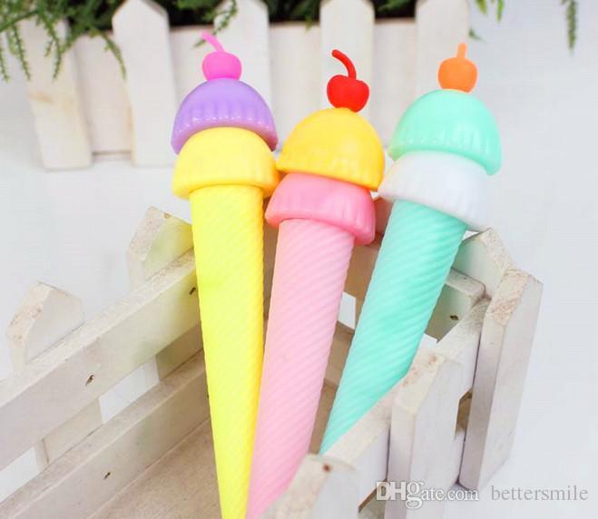 Venta al por mayor de la pluma del gel envío libre 120pcs \ lot cratoon helado encantador color neutral penSchool Supplies regalos 307