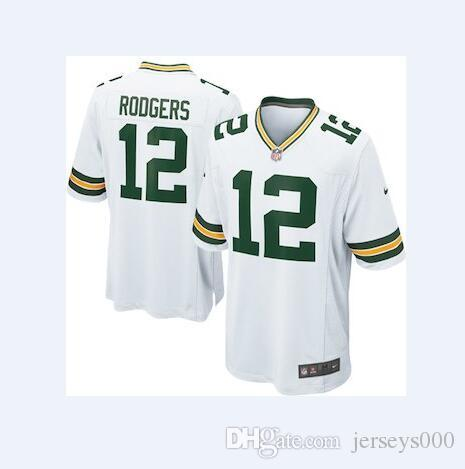 4ebb8bbb8a8c2 12 Aaron Rodgers Jersey Packers Green Bay Jimmy Graham Bart Starr Team  Color american football jerseys women men youth kids free shipping