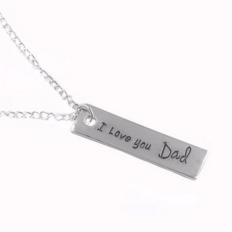 ti amo papà Bella e collana di cristallo vestiti accessori padre Day's Necklace per la collana regalo mamma spedizione gratuita