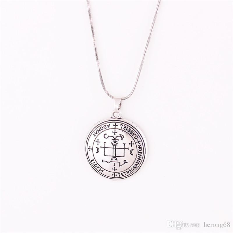 Хорошие продажи унисекс ожерелье Великий Бог Архангел Гавриил написано с магические руны личности подарок сплава цинка обеспечивают Dropshipping