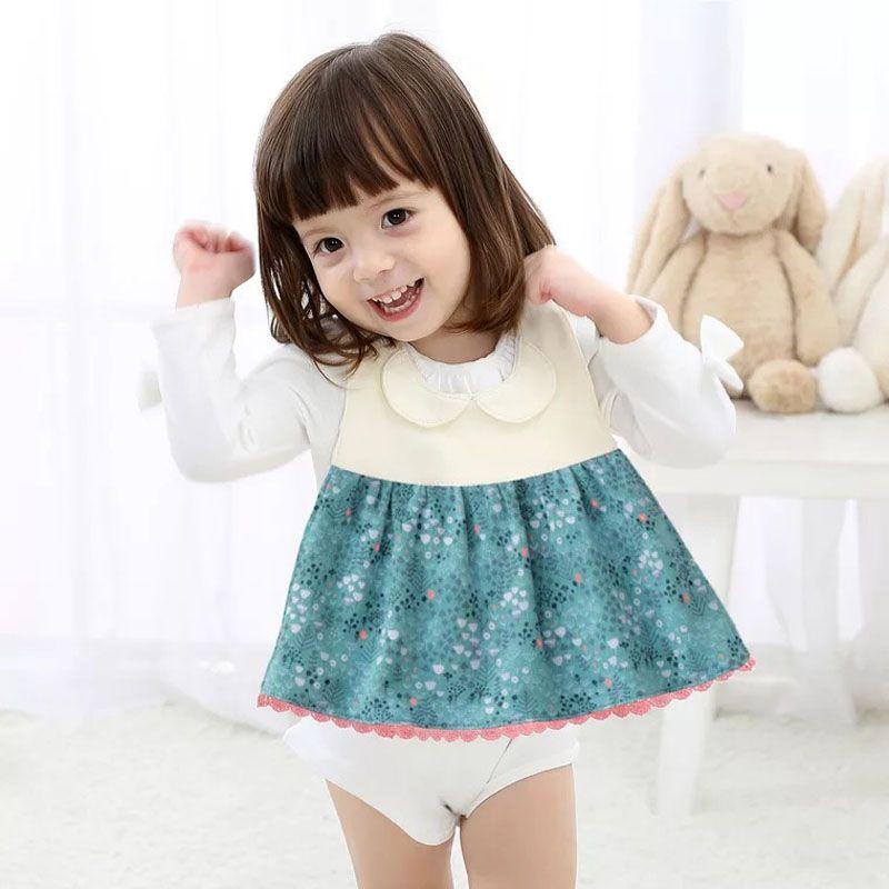 Baby bibs Baby girl apron s Baberos Bavoir Waterproof Cotton Print Floral Baby accessories 0-36 months