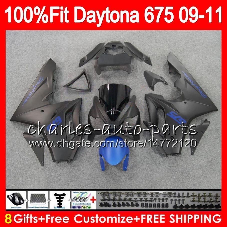 Injecção Para Triunfo Carroçaria Daytona 675 2009 2010 2011 2012 Plano azul preto 107HM.53 Daytona 675 09 10 11 12 Daytona-675 Daytona675 Carenagem