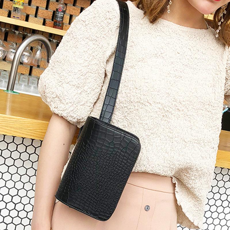 Vintage Waist Bag Women Alligator PU Leather Belt Bag Waist Pack Travel Belt Wallets Fanny Bags