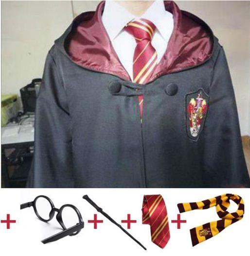 Tema Kostüm Cosplay Çocuklar ve Yetişkin Potter Robe Cloak Cadılar Bayramı Partisi Kostümleri