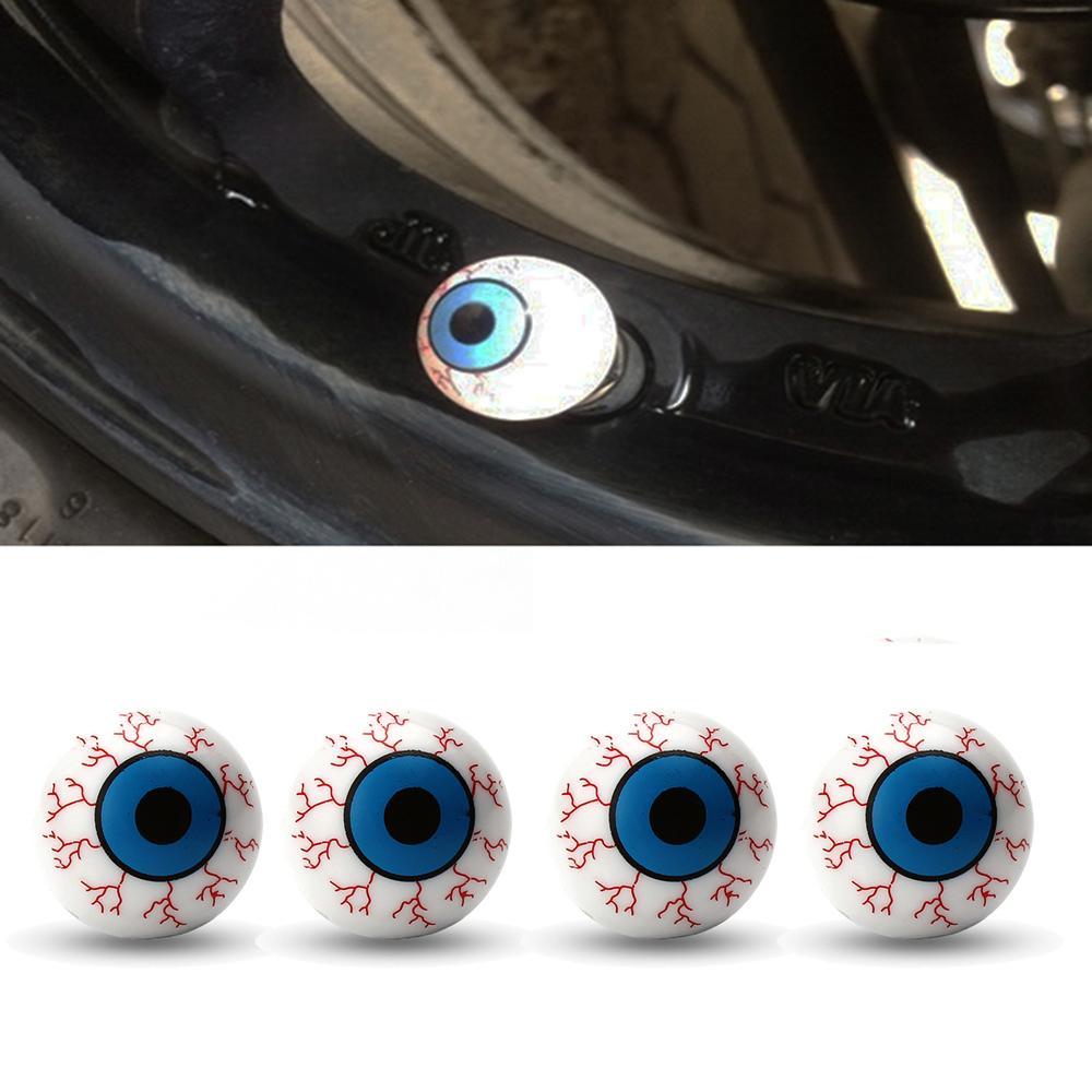 4pcs válvula de aire del neumático auto madre tapacubos la bola del ojo de la válvula Tapa Tornillo de neumáticos a prueba de polvo del enchufe para el carro del coche auto de la decoración de bicicletas