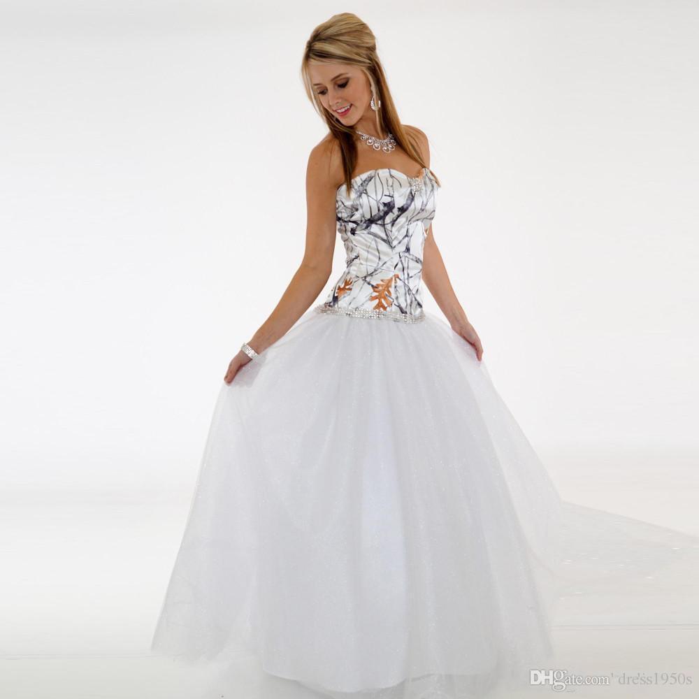 Großhandel Einfache Camo Brautkleider Billige Schatz Eine Linie Tüll  Hochzeitsgast Kleid Brautkleider Bodenlangen Reißverschluss Brautjungfer  Kleid