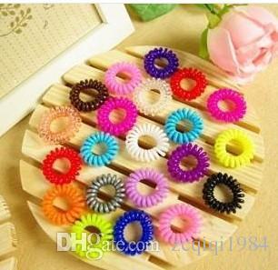 New Lovely Shining Bright Candy Mix Colore Telefono Wire Elastic Hair Bands Accessori per capelli in gomma per le donne