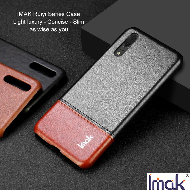 """wholesale Ruiyi Series Luxury Skin PU Leather Case for Huawei P20 5.8"""" inch Hard PC Back Cover Quality for Huawei P20 Protection Case"""