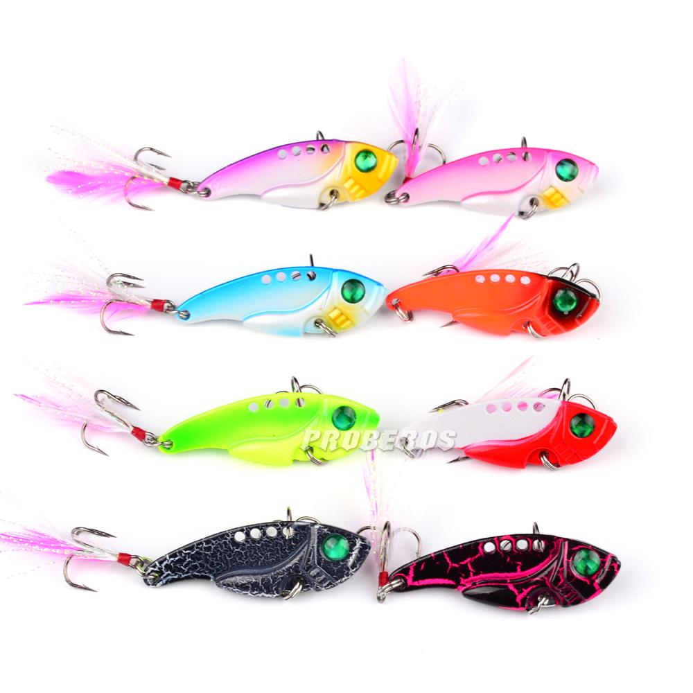8pcs/lot Fishing Lures PRO BEROS Brand Hot Metal Lure 8 color Fishing Tackle 5.5cm/11.1g Fishing bait Artificial