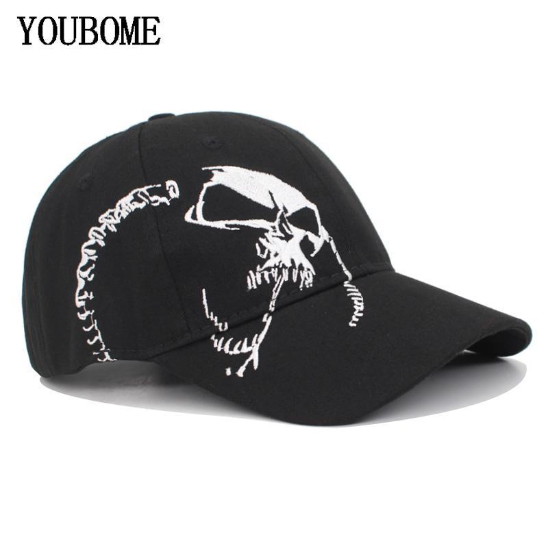 Youbome أزياء المرأة قبعة بيسبول snapback القبعات سائق الشاحنة القبعات للرجال التطريز الجمجمة casquette العظام خمر الرياضة أبي الذكور كاب