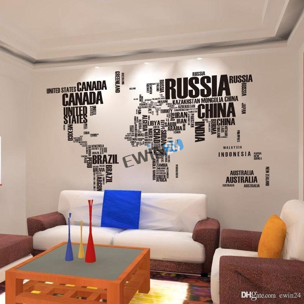 Wall stickers english alphabet world map vinyl home wall stickers wall stickers english alphabet world map vinyl home wall stickers removable 116190cm for kids gumiabroncs Images
