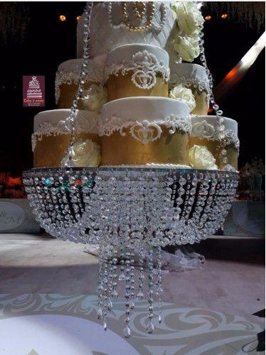 Acheter Luxe Romantique Suspendus Grand Gateau De Lustre En Cristal Lustre Gateau De Mariage Cristal Mariage Grand Gateau Fleur Porte Gobelet Avec