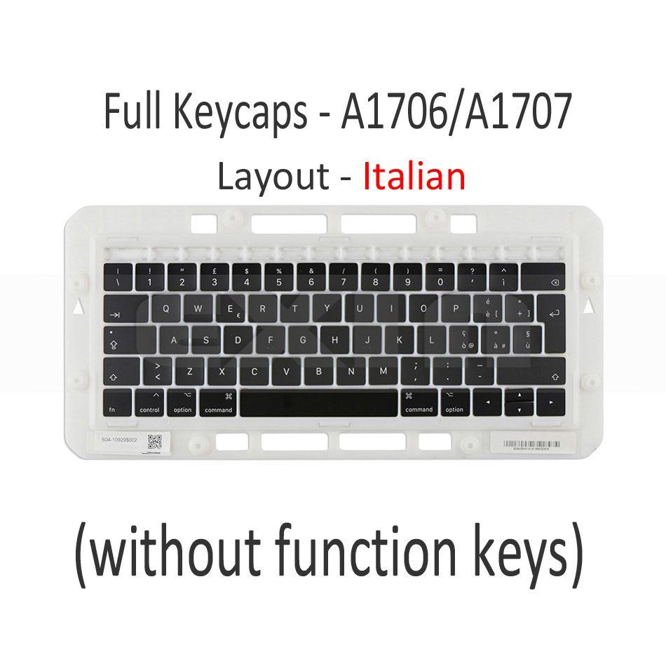2019 For Macbook Pro Retina 13 15 A1706 A1707 A1708 Italian Italy Latin  Keyboard Key Cap Keys Keycaps Replacement 2016 2017 From Worldwidehuntoon,