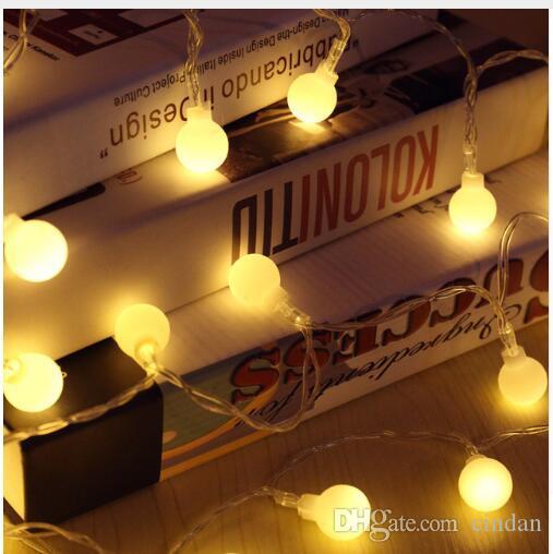 새로운 1.5M 3M 6M 요정 화환 LED 볼 문자열 조명 방수 크리스마스 트리 라이트 웨딩 가정 실내 장식 배터리 구동