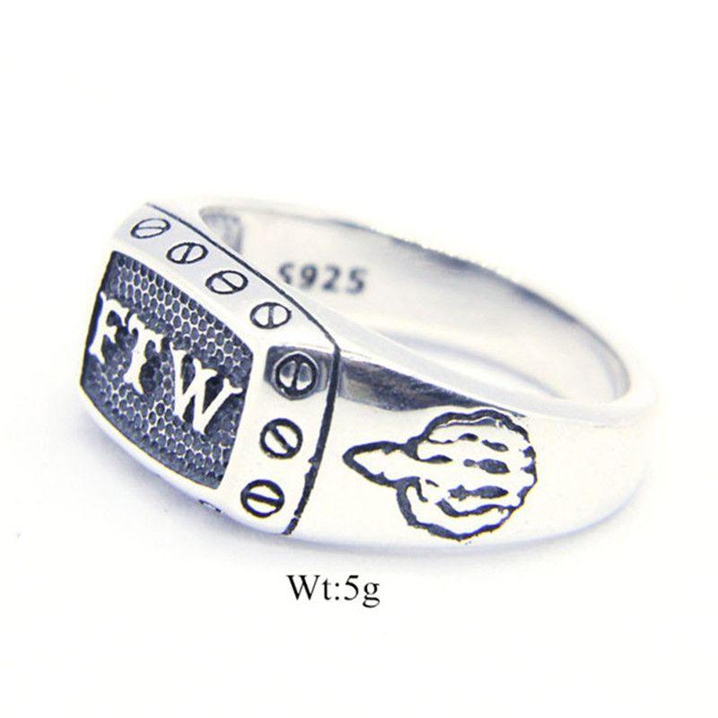 1 PC Darmowa Wysyłka Rozmiar 6-10 Lady Girls 925 Sterling Silver FTW Biżuteria Pierścień Najnowszy S925 Moda Środkowy Pierścień