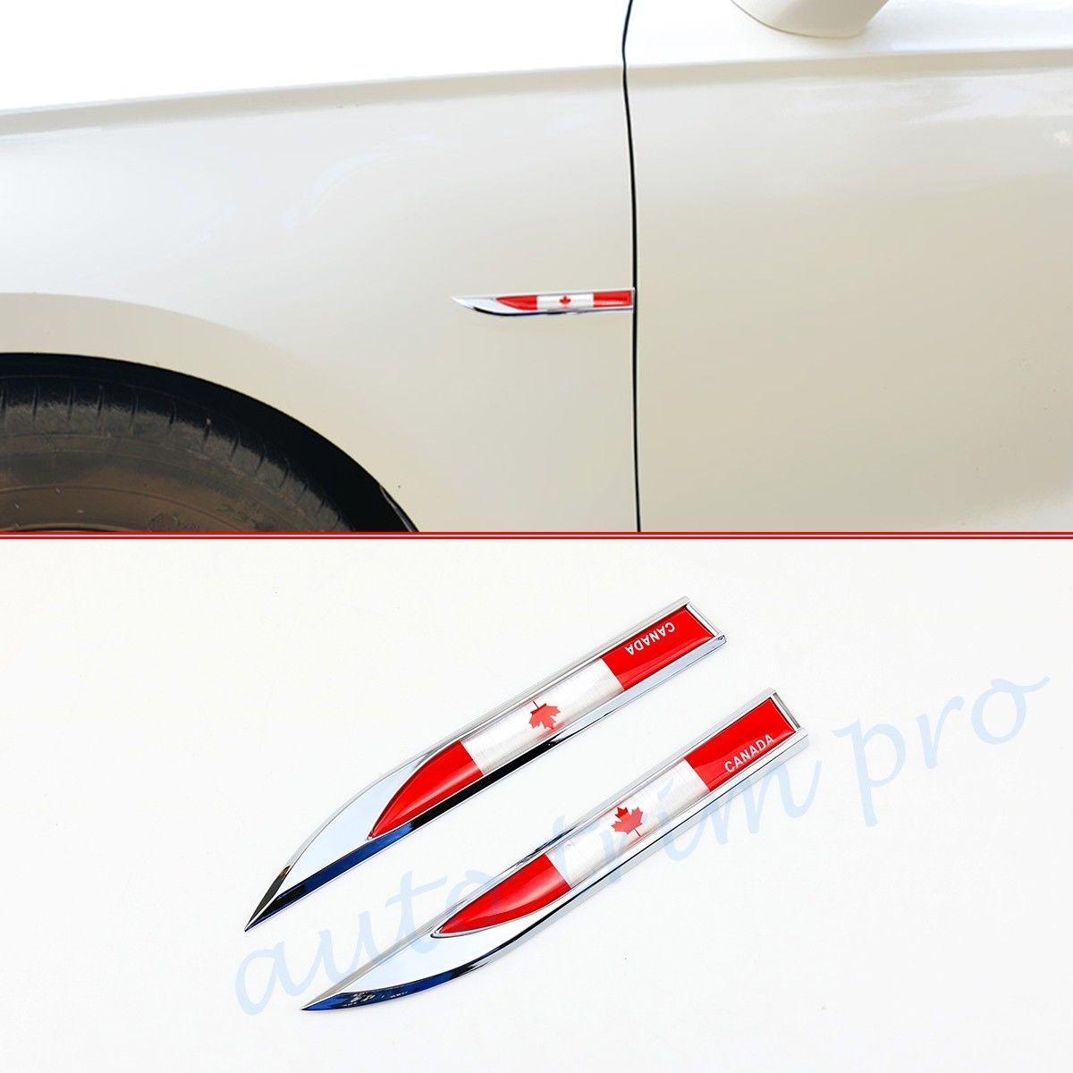 Chrome 3D Lama Canada CA Bandiera camion dell'automobile Sia Fender distintivo dell'emblema della decorazione della decalcomania autoadesivo laterale