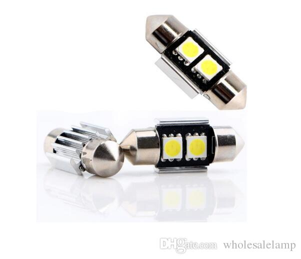 Festoon canbus Dome 31mm 36mm 2SMD 5050 auto led Car Interior Roof Reading License Luggage Led Error free