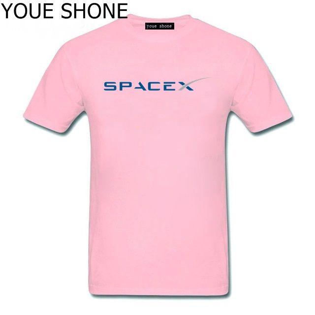 T-shirt da uomo T-shirt manica corta personalizzata Custom Boyfriend Plus maglietta stile semplice T-shirt SpaceX T-shirt uomo Space X Logo T-shirt da uomo