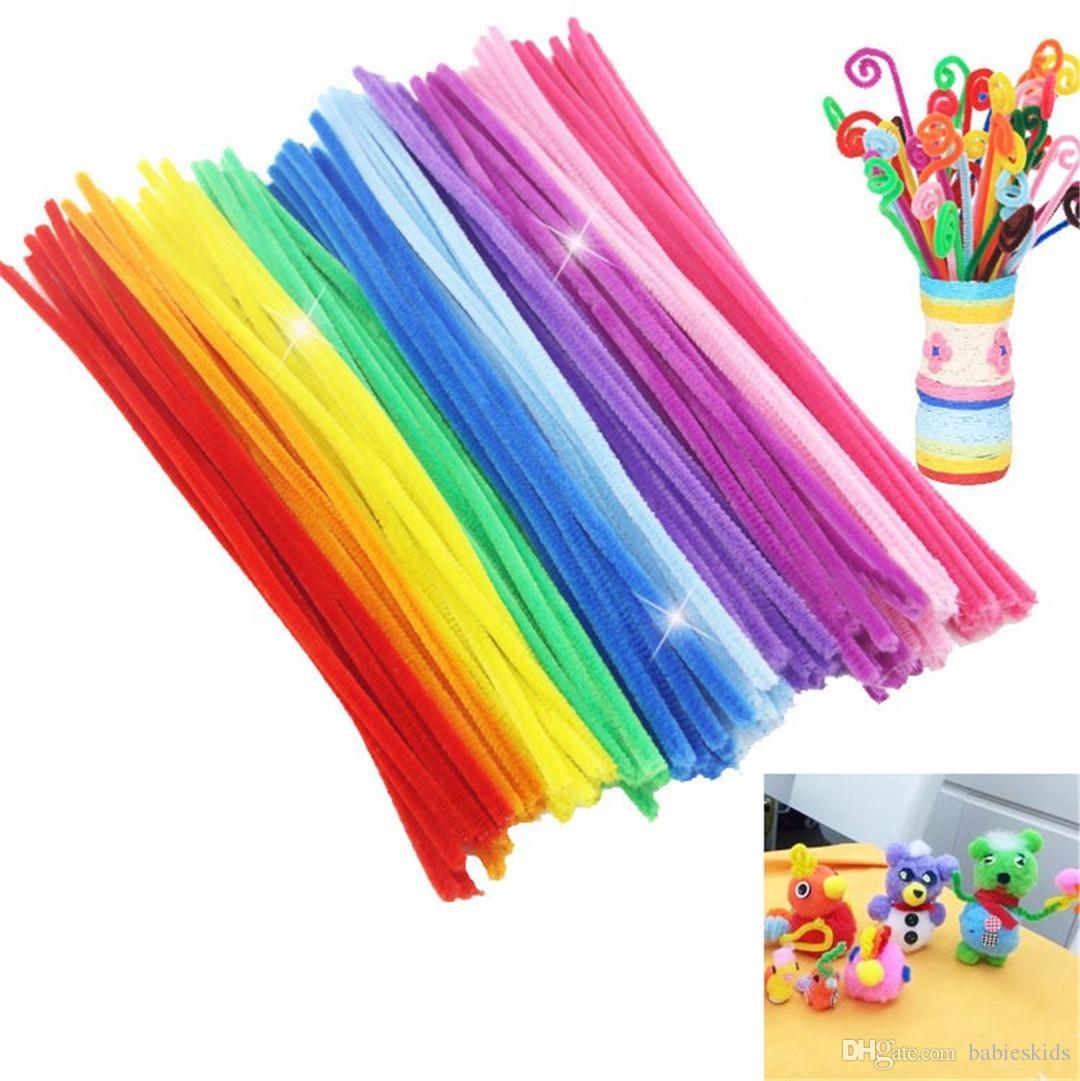 New Creative 100Pcs/Set Montessori Math Educational Toy Chenille Sticks Puzzle Craft Children Kid Pipe Cleaner Stems Craft Creative Toys