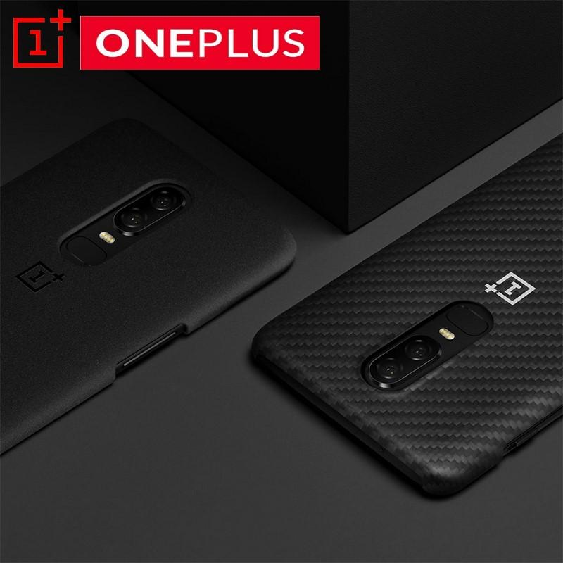 the best attitude 4aa4e fccbb Original OnePlus 6 Official Bumper Case Material Aramid Fiber PC Half Round  Back Cover Shell Sandstone Carbon For OnePlus6 Cell Phones Covers Design ...