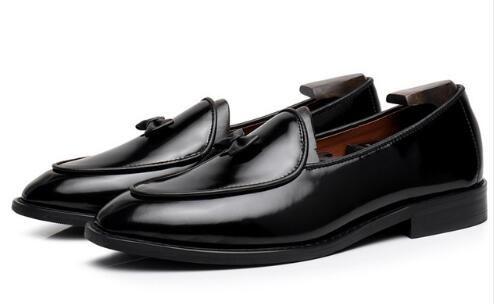 Mocassini di lusso fatti a mano scarpe piccolo papillon gentiluomo casual scarpe da ginnastica da uomo abito da sposa scarpe da festa EU35-EU46