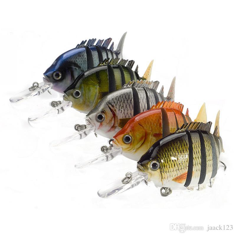Crankbaits Fishing Wobblers Lures 10cm/13.5g 6 Segments Dive 0.6-2.2m Winter Pesca Hard Baits Swimbait 1pcs/lot