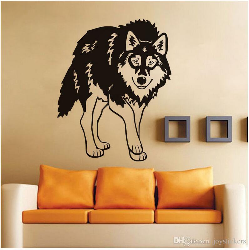 Kreative Tier Wolf Direct Deal Tür Wandkunst Aufkleber Zitat Sofa Hintergrund Aufkleber Vinyl Entfernbare Wandaufkleber Für Wohnzimmer 57 * 71 cm