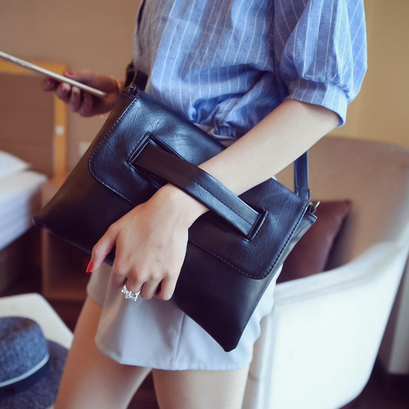 Hot Selling Women Bag Wrist Clutches Envelope Evening Bag Pu Leather Quality Messenger Crossbody Shoulder Female Hand