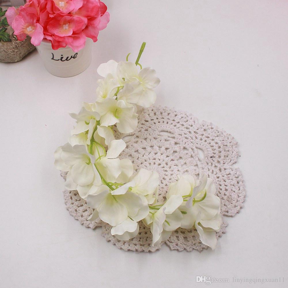 Comercio al por mayor 30 cm Tira de ratán Wisteria Artificial flor de vid para la boda Home Party Kids Room Decoration DIY Craft flores falsas