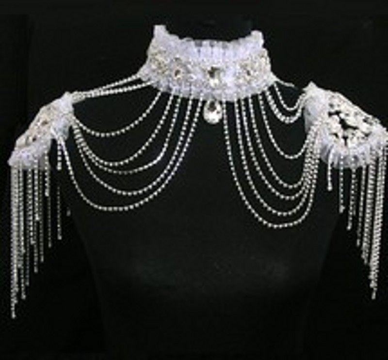 2018 Latest Bridal Wedding Shoulder Chain Classic Hot Sales Shiny Rhinestones White Clear Bling Bling Luxury Wedding Jewelry