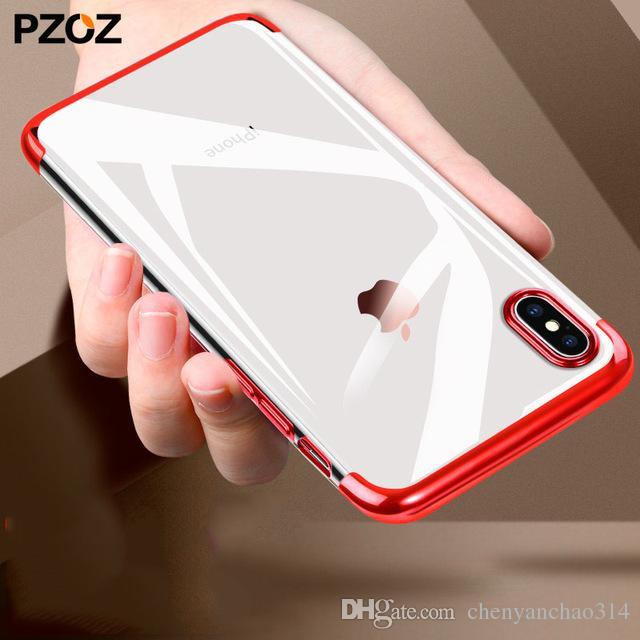 pour apple iphone x 10 cas ultra mince de luxe tpu couverture coque pare-chocs accessoires silicone mince boîtier pour iphonex étui souple
