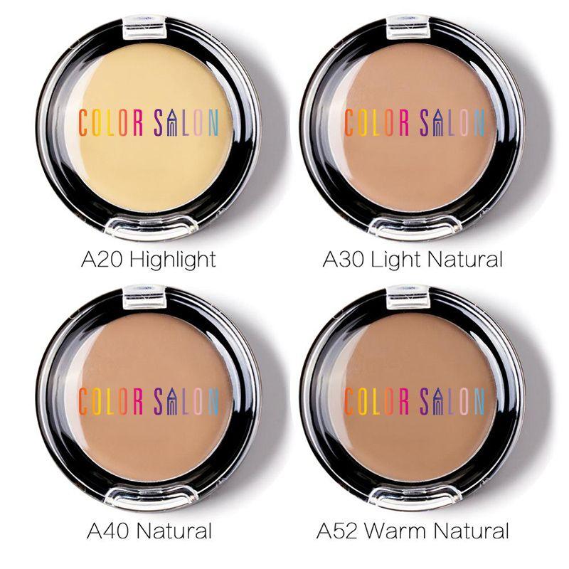 Color Salon 4 colores Concealer Palette Invisible Pore Wrinkle foundation brightener concealer cream Corrector de maquillaje