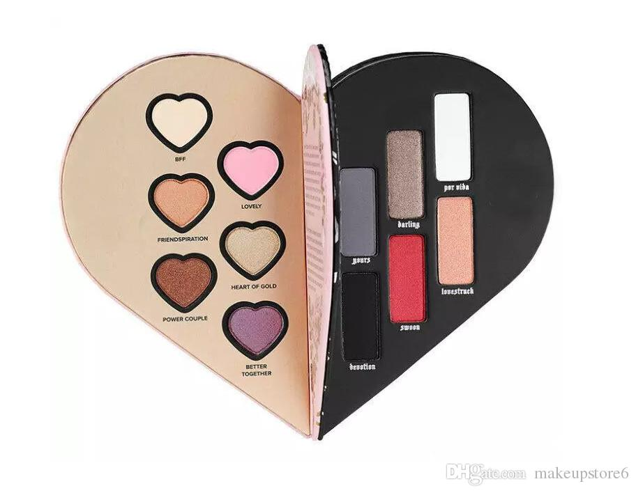 To Fd And Kvd Better Together Sephora Limited Edition Eyeshadow Better Ultimate Eye Shadow Collection Interlocking Heart Eyeshadow Palette Eye Makeup