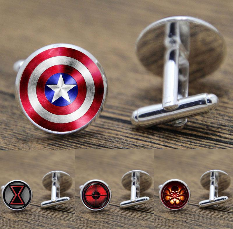 Superhero Boutons De Manchette Super Hero Avengers Boutons De Manchette Captain America Bouton De Manchette Thor Boutons De Manchette Boutons De Manchette Pour Hommes Garçons 5 paires