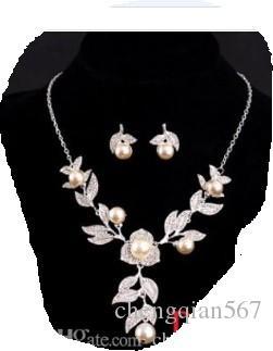 белый цвет систал свадьба невесты леди набор ожерелье серьги thljkl