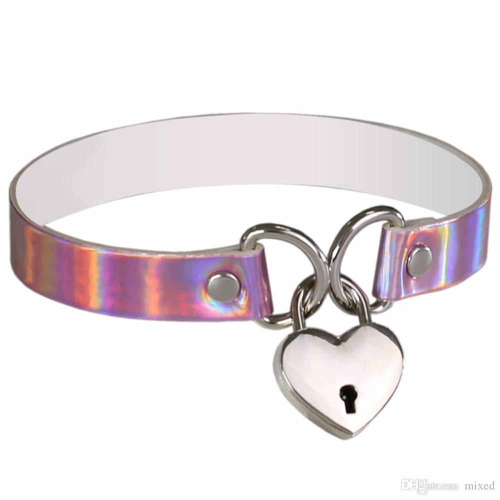 Handmade PU Leather Choker Crystal Charm Necklace Pendant Retro UK