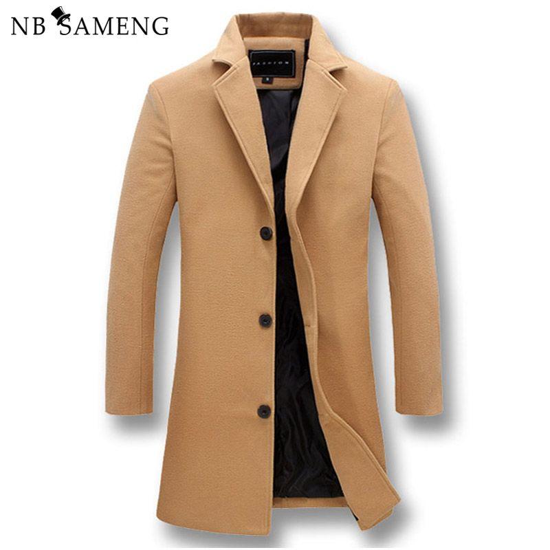 Мужская мода куртки мужчины Slim Fits пальто бизнес мужские длинные зимние ветрозащитный Outwears плюс размер 5XL черный горячие продажа высокое качество