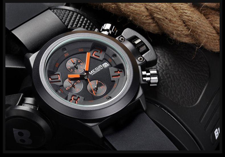 Yeni saatler erkekler Megir marka Erkek Saatler otomatik saatler skyfall erkekler self-rüzgar İzle fishos İzle erkekler en iyi seçim