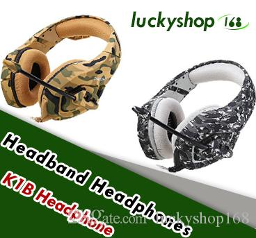 Camouflage PS4 Headset Bass Gaming Headphone Game Earphone Casque with Mic for PC Mobile Phone Xbox One Tablet K1b 1pcs