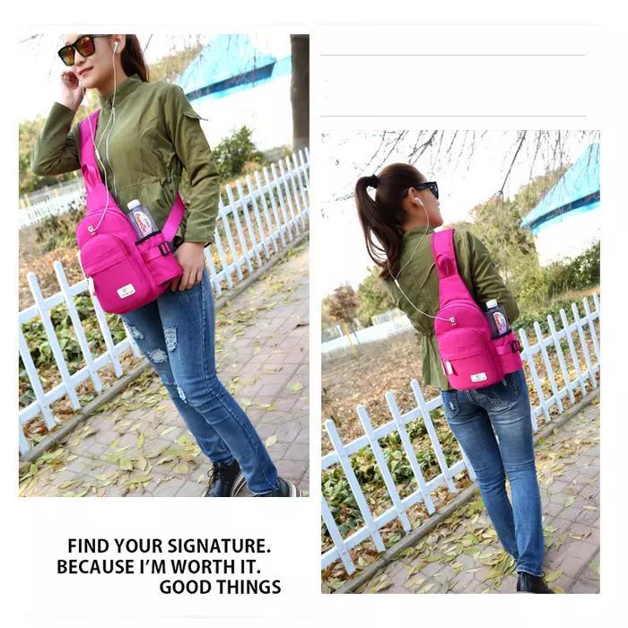al por mayor-Nueva unisex bolsa de pecho mochila deportes al aire libre mensajero de los viajes combinados impermeable de tela bolsa crossbody versión coreana bolso de la caldera