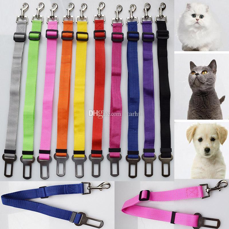 Ceintures de sécurité de chien pour les voitures Ceinture de sécurité pour animaux de compagnie réglable en stretch pour chien avec crochet sécurisé Jardin laisses extérieures WX9-683