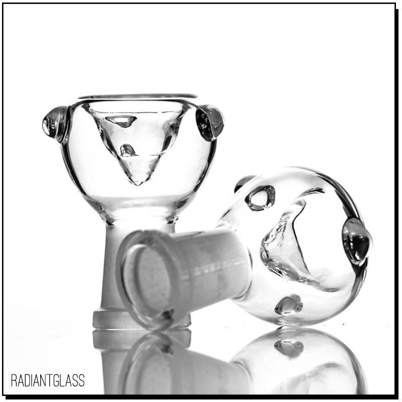 Tubos para fumar Clásicos conjuntos femeninos Classics Borrar vidrio en tazón de tabaco 14.5 18.8mm