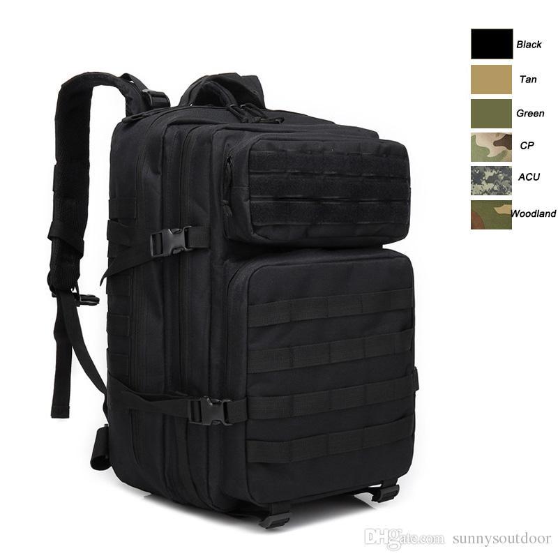 Oudoor Спорт водонепроницаемый тактический пакет / сумка / рюкзак / Рюкзак / штурмовой боевой камуфляж тактический камуфляж 45l рюкзак NO11-0035
