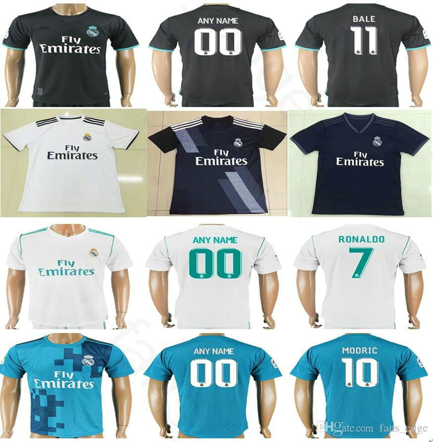 los angeles 2335e 88849 2019 2018 2019 Real Madrid Jersey 7 Ronaldo 10 Modric 20 Asensio Sergio  Ramos Kroos Benzema Bale Isco Custom Home Away Soccer Football Shirt From  ...
