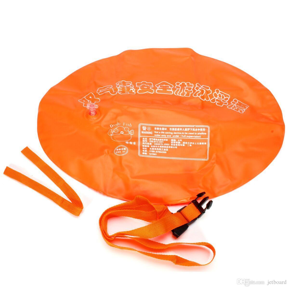 100% tout neuf airbag gonflable de flotteur de dispositif de flotteur de sécurité de sport de bouée double airbag pour l'eau ouverte