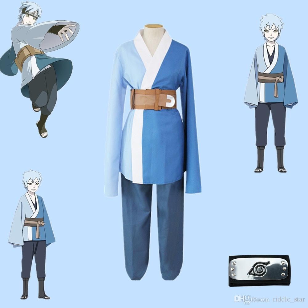 الحجم آسيا اليابان أنيمي ناروتو أورهوبو ميتسوكي حلي الأزرق طويلة الأكمام فضفاضة معطف عباءة كيمونو