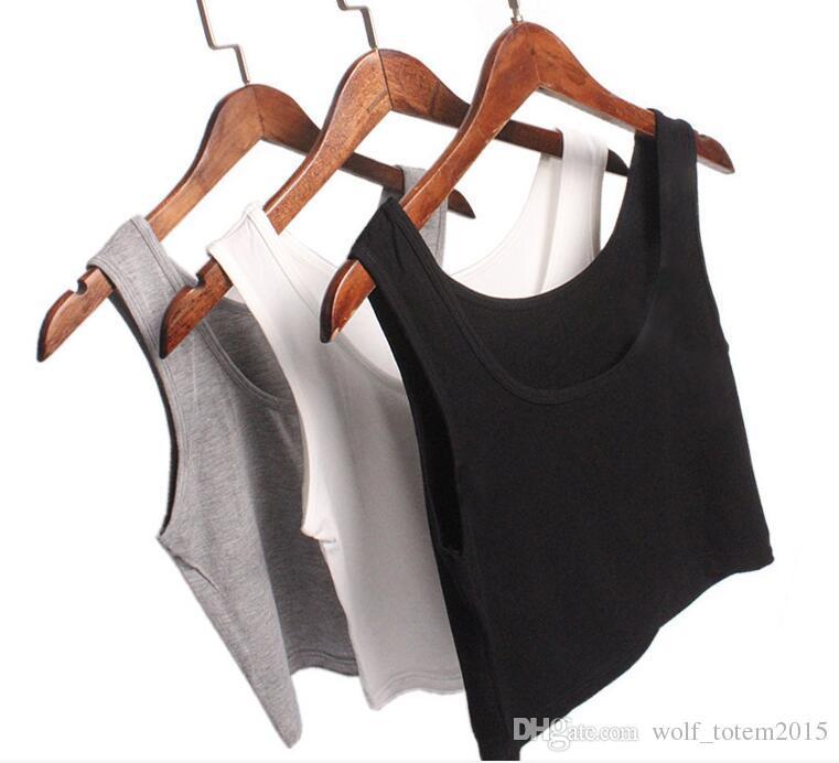 Yaz yeni kısa yelek, Kore Modal çift U-yaka, rahat, yumuşak, elastik vücut, ince ve ince