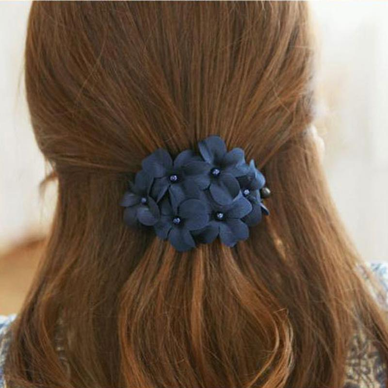 10pcs Flower Hair Clips For Women Plastic Hairpins Barrettes Fashion Hair Accessories Hair Pins And Clips Floral Hairdresser Tool