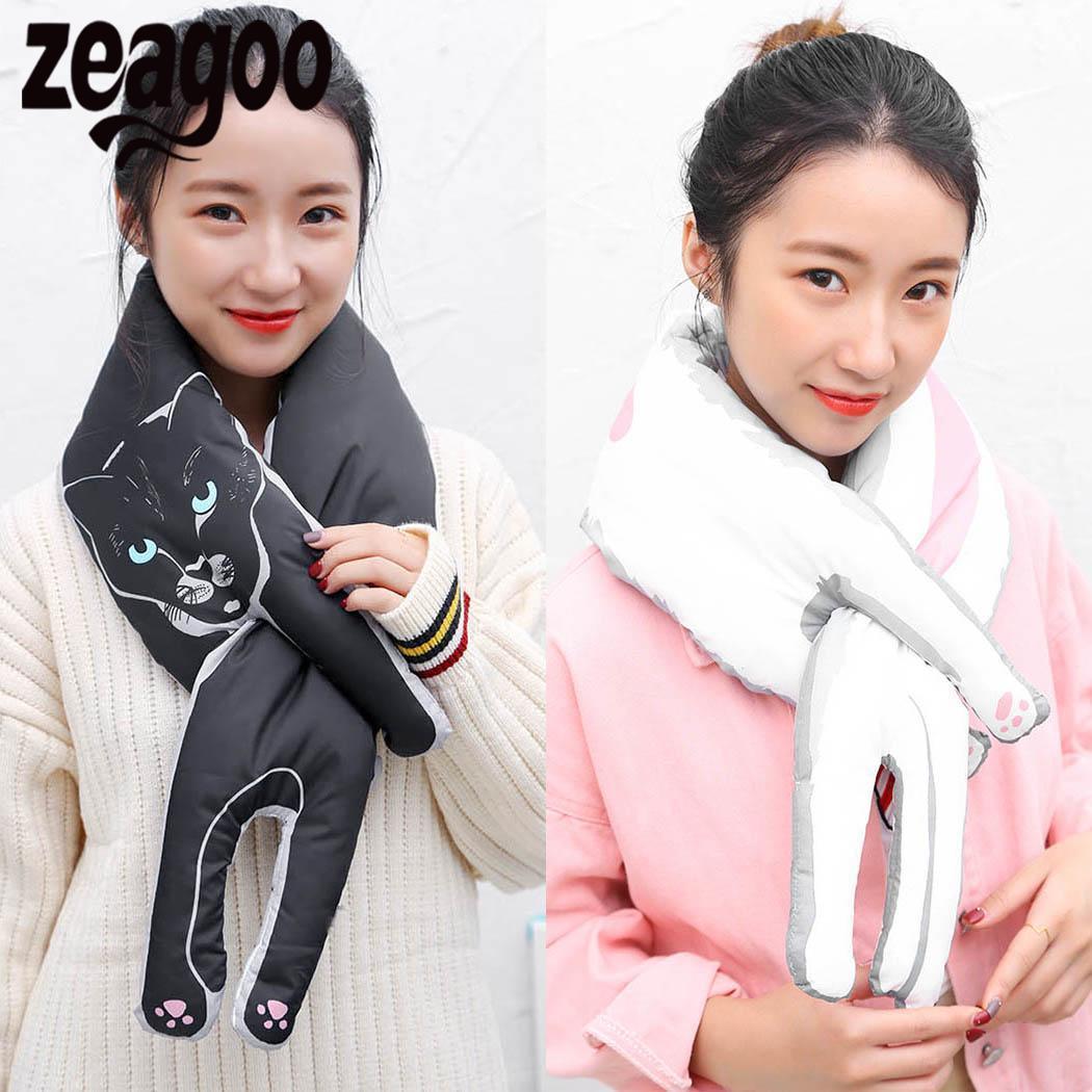 도매 두꺼운 겨울 패션 넥 따뜻한 인쇄 귀여운 스카프 여자의 동물