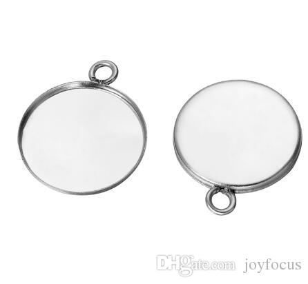 50 pcs Stainless Steel cabochon base setting diy stainless steel charms for earrings crafts making more size for choice